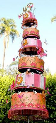 16 Outrageous Celebrity Wedding Cakes Slideshow   The Daily Meal
