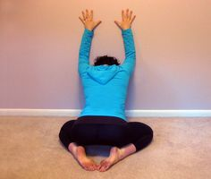 Stiff Neck Rx by fitsugar: Shoulder and Neck Stretch Against the Wall #Stiff_Neck