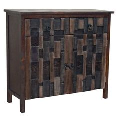 Gallerie Decor 2-door 2-drawer Mosaic Cabinet | Overstock.com Shopping - The Best Deals on Coffee, Sofa & End Tables