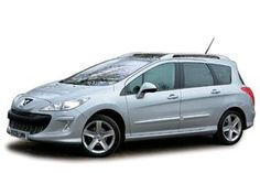 Peugeot 308 SW (08-14) (450.0cm, +16.4cm) 2nd row seats: 3 equal sized Seats don't fold completely flat, can be removed