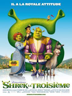 Shrek le troisième (Shrek the Third) est un film en images de synthèse de Chris Miller et Raman Hui sorti en 2007. Après la mort du roi, Shrek et Fiona sont contraints de régner sur le royaume de Fort Fort Lointain. Toutefois, s'ils peuvent trouver Arthur Pendragon le digne héritier du trône et le ramener au royaume, ils pourront retourner dans leur marécage.