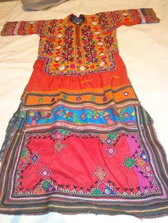 vintage india and pakistan tribal dresses costumes with mirror work hand embroidery