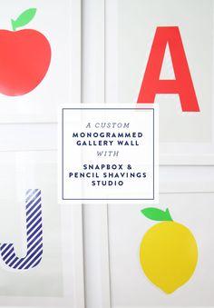 @psstudio and snap box gallery wall - giveaway too! - www.pencilshavingsstudio.com