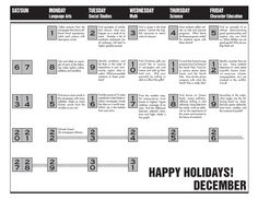 Daily activities to do with the newspaper for December 2014.
