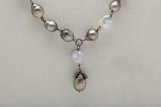 Baroque Tahitian Pearl And White Freshwater Keshi by WestPearls