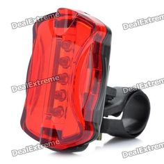 Bicycle Bike 7-Mode 5-LED Red Rear Light Tail Warning Safety Light. Buy it at auction price of $5.49