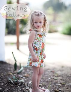 fairytale frocks and lollipops :: sew sweet patterns, angelica soderin, patti million, saffron romper, girls, baby, infant, child, toddler, play, summer, spring, fall, school, church, everyday, sewing, instant, boutique, e-pattern, download, pdf, tutorial