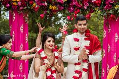 Dreamlike outdoor Indian wedding ceremony. https://www.maharaniweddings.com/gallery/photo/150801 @kiwedding