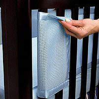 We have a breathable bumper- the regular padded bumpers can put your baby at risk for Sudden Infant Death Syndrome.