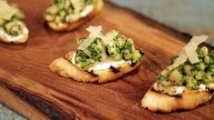 White Bean and Parsley Pesto Crostini Recipe | The Chew - #anchovies #pinenuts #goatcheese