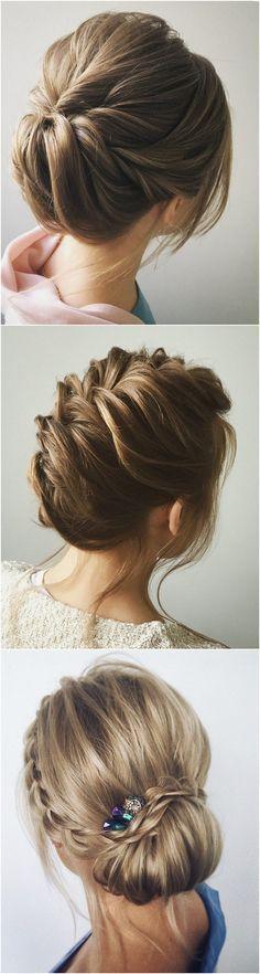 romantic twisted updo wedding hairstyle http://niffler-elm.tumblr.com/post/157398740006/beautiful-short-layered-bob-hairstyles-short