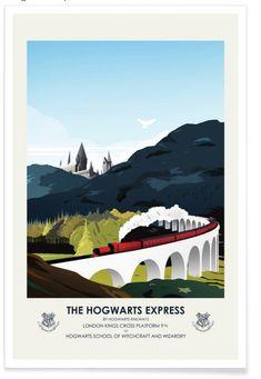 Harry Potter Hogwarts Travel Poster Vintage by CiaranMonaghanArt Harry Potter Poster, Art Harry Potter, Harry Potter Hogwarts, Retro Poster, Vintage Travel Posters, Buy Posters, Cool Posters, Hogwarts Brief, Impression Poster