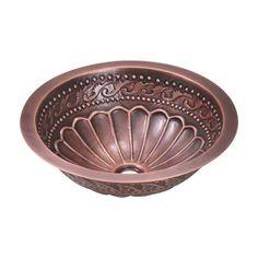 MR Direct 924 Single Bowl Copper Bathroom Sink