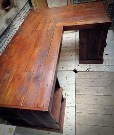 Pallet Wood furniture Pallet Desk Handmade by PalletBrighton Pallet Desk, Wood Pallet Furniture, Furniture Projects, Home Projects, Diy Furniture, Furniture Plans, Pallet Sectional, Wooden Pallets, Pallet Wood