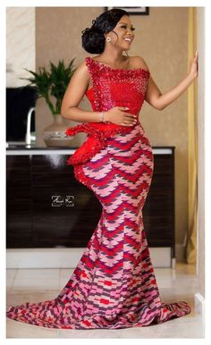 Long African Dresses, African Lace Styles, African Wedding Dress, Latest African Fashion Dresses, African Print Dresses, Ankara Fashion, African Prints, African Style, African Fabric