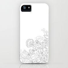 Black & White Flowers iPhone Case by Derek Boman - $35.00