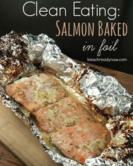 21 day fix: Salmon baked in foil