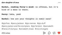 Percy Jackson Head Canon, Percy Jackson Quotes, Percy Jackson Books, Percy Jackson Fandom, Solangelo, Percabeth, Daughter Of Poseidon, Percy Jackson Characters, Holly Black