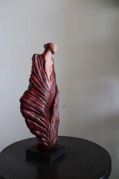 Statuette femme flamme terre cuite : Sculptures, gravures, statues par cagnano