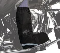 Nelson-Rigg Covers: Made from 100% waterproof polyester with PVC.  Worn over your shoes or boots to protect them from rain and moisture.  Designed to be worn under pants or chaps.  Reflective binding increases nighttime visibility.  Rubberized 1/2 sole for strength and durability.  1 year manufacturer's warranty from Nelson-Rigg.