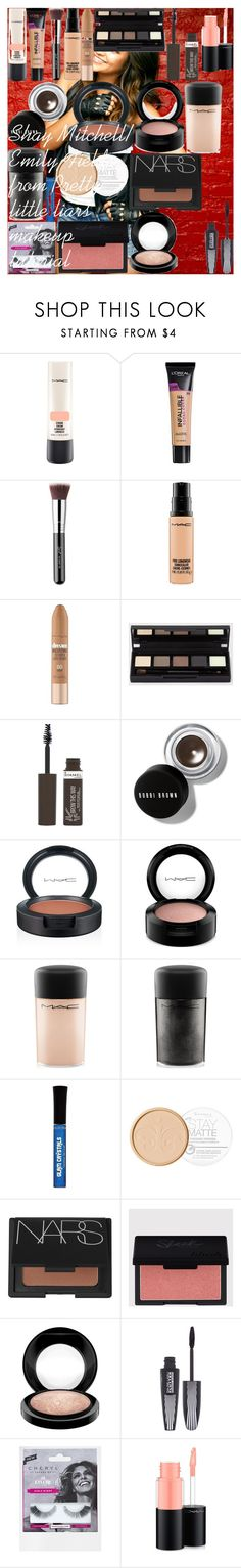 """Shay Mitchell/ Emily Fields from Pretty little liars makeup tutorial"" by oroartye-1 on Polyvore featuring beauty, MAC Cosmetics, L'Oréal Paris, Sigma, Maybelline, Rimmel, Bobbi Brown Cosmetics, NARS Cosmetics and eylure"