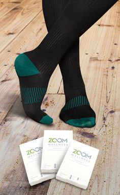 CopperZen Socks by Zoom Wellness Boost Circulation & Energize Tired Feet & Legs Relieves Aching, Swelling, Stiffness, Numbness, Spider Veins, and More