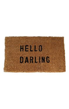 Hello Darling Mat