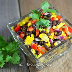 This recipe for Santa Fe Salad is perfect for a side dish or lunch meal. Crisp colourful veggies and beans are tossed together with some serious flavour from Jalapeño peppers, lime, cilantro and cumin!
