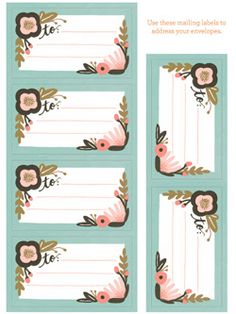 botanicals stationery by rifle paper #DearMom @chroniclebooks