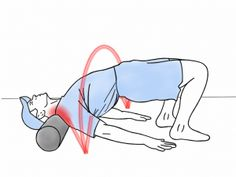 Sore upper back? Tight neck and shoulder? We'll show you how to use a foam roller for your upper back, neck, and shoulders. Neck And Shoulder Exercises, Posture Exercises, Neck And Shoulder Pain, Neck And Back Pain, Neck Stretches, Shoulder Workout, Shoulder Rehab, Tight Neck, Foam Roller Exercises