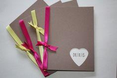 Simple Kraft Wedding programs with Mix and Match ribbon. $1.70, via Etsy.