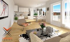 Living Room/ Kitchen Design