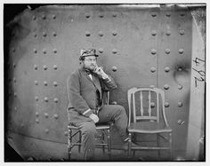Images of USS Monitor, Civil War Ironclad: Captain Jeffers On the Deck of the Battle-Damaged Monitor American Civil War, American History, Uss Monitor, Civil War Photos, Historical Images, Photo Reference, Military History, Civilization, Wwii