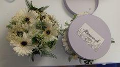 DIY flower box  #diy #flowers #flower box #gift #handmade #white #gerbera #wild #bohemian