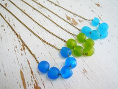 African Recycled Glass Necklace - Handmade Beads - Krobo Beads - NaturalGlam Etsy Shop