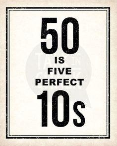 50th Birthday PRINTABLE Sign Pack 50th Birthday by TalkInChalk