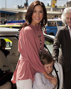 Princess Mary with her son Prince Christian of Denmark