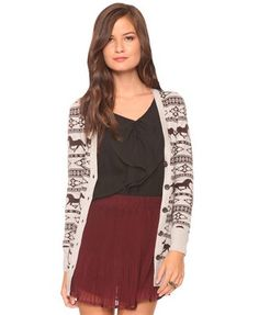 "I saw this girl in a Nashville Mimi's wearing this cardigan and loved it, but didn't want to be like ""hey, where'd you get that?"" As she was leaving, my big brother ran out of the restauraunt, and asked her. I ordered it that night. Loving it."