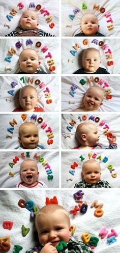 18 idées pour documenter la première année de bébé   Coup de Pouce