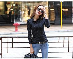 13244047ceb8e 2018 New Spring Autumn Fashion Polo Shirt Women Long Sleeve Slim Polos  Mujer Comfortable Top Women s Shirt Lady Polo Shirt Femme