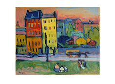 Wassily Kandinsky - Houses in Munich