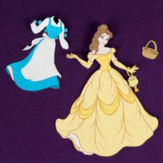 Belle Paper Doll. and lots of other beauty and the beast and princess things. this site is also full of fun printables for all occasions in a variety of characters! Love