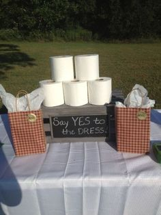Say Yes To The Dress bridal shower game.  See more fun bridal shower games and party ideas at http://www.one-stop-party-ideas.com