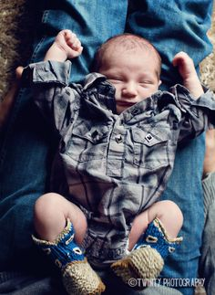 Wrangler onesie with cowboy booties.. This is what I want!!! One day