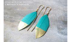 Stalactite boucles Squaw plume turquoise