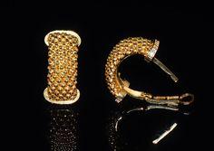 Gold Huggie Earrings Istanbul Turkey Earrings Authentic
