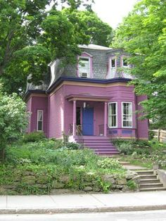1857 Mansard Victorian House, 2nd Empire.  If only I could convince Chuck to do this plum color...