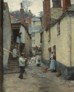 Old Newlyn by Stanhope Alexander Forbes