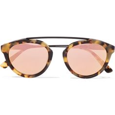 Flower 13 aviator-style acetate mirrored sunglasses, Women's, Size:... ($280) ❤ liked on Polyvore featuring accessories, eyewear, sunglasses, tortoiseshell, tortoiseshell sunglasses, tortoise shell aviators, flower sunglasses, tortoise sunglasses and tortoise shell sunglasses