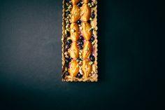 Blueberry Apricot Tart with Pistachio Crust | Vegetarian Ventures